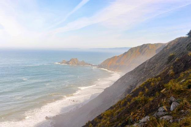 Seriously lovely vistas await at Devil's Slide Trail, formerly a frightening stretch of California coastal road. Kelsey Farabee photo.