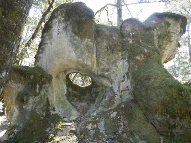 Psychedelic rock formation near  La Honda Creek Open Space Preserve.