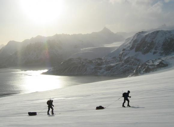 A Shackleton trek crossing South Georgia. Photo by Steve Thompson.