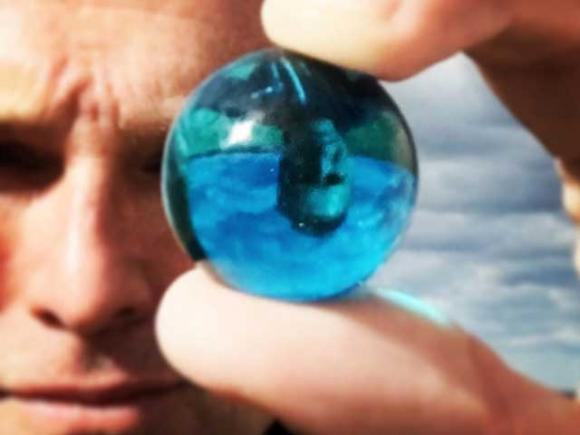 J. Nichols' Blue Marble movement has distributed more than a million little reminders  that life on earth is precious and fragile.