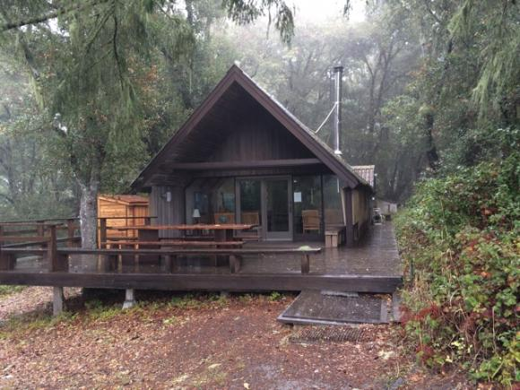 The Sierra Club Hiker's Hut at the border of Pescadero Creek and Sam McDonald county parks is available for rent.
