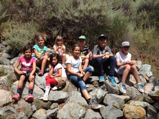 A charming group of young German tourists pose on the Rogue Valley Trail. Eric Johnson photo.