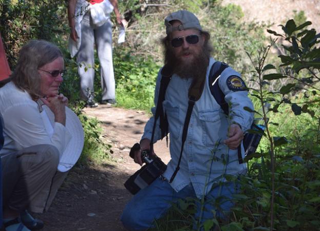 Scott Peden leading a nature walk at Rancho del Oso.