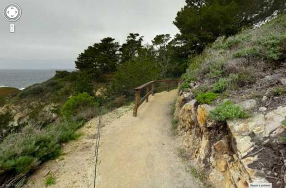 Many of the California state parks Google has photographed with its Street View Trekker, including Point Lobos State Reserve, are in or around Big Sur.