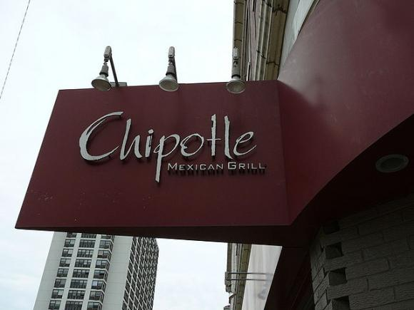"""Sign outside a Chipotle restaurant. Photo by Octavio Ruiz Cervera / <a href="""" https://creativecommons.org/licenses/by-sa/2.0/legalcode"""" target="""" _blank"""">CC</a>"""