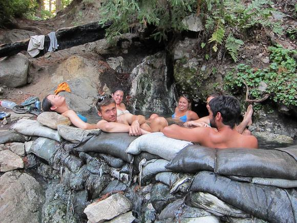 Sykes Hot Springs is a popular place. Photo by Snickclunk on Flickr.